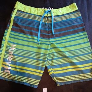Hurley Phantom striped surf shorts